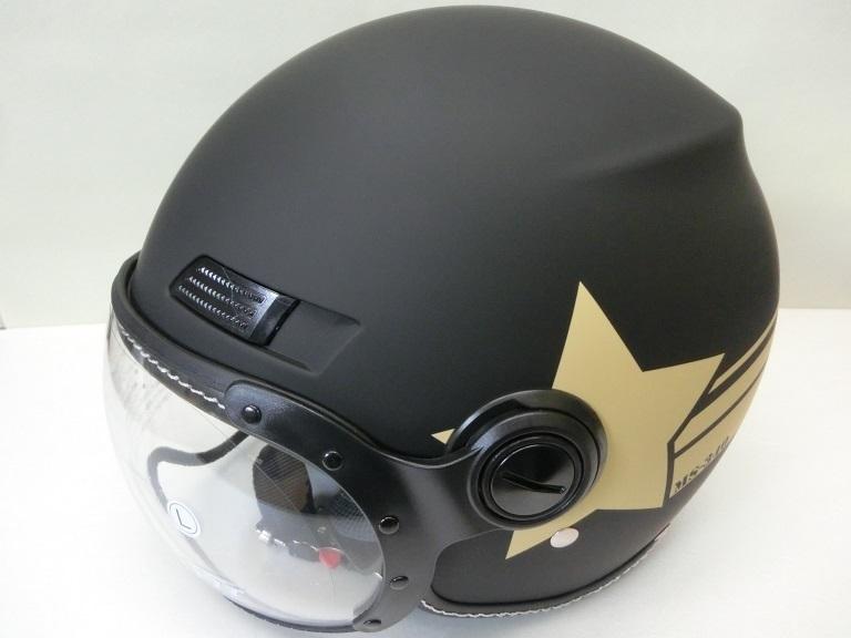 パイロットジェットヘルメット/アーミースター/マットブラック/Lサイズ/MS340/マルシン_画像2