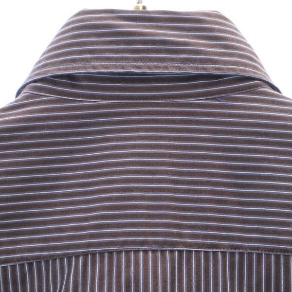 ザラマン ストライプ 長袖 ボタンダウンシャツ US S ブラウン ZARA MAN スリムフィット メンズ 200521_ザラマン ストライプ 長袖 ボタ 詳細2