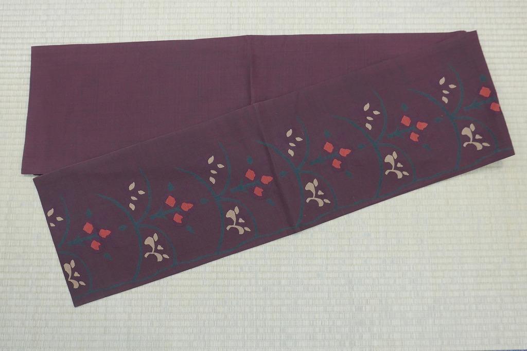 2004-4048●丸文/袋帯・名古屋帯・昼夜帯/5点/帯アソート/リメイク・材料等に/花柄等/仕立上り/正絹・他/(梱包サイズ:100)_画像5