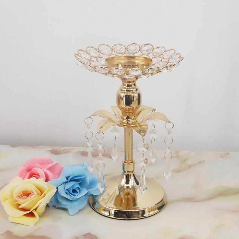 S1146 Peandim ゴールドクリスタルキャンドルホルダーの結婚式の装飾テーブルセンターピース燭台誕生日パーティー花瓶ホルダー家の装飾_画像6