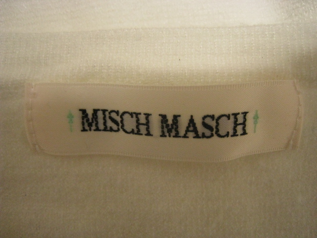 MISCH MASCH ミッシュマッシュ トップス ニット 長袖 Vネック 白 ホワイト Mサイズ レース 刺繍 花_画像5