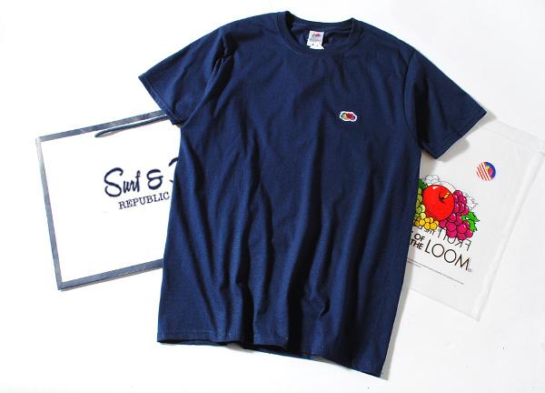 Fruit Of The Loom ロゴTシャツ ネイビーL フルーツオブザルーム ブランド 半袖 ホワイト ワンポイント USAコットン