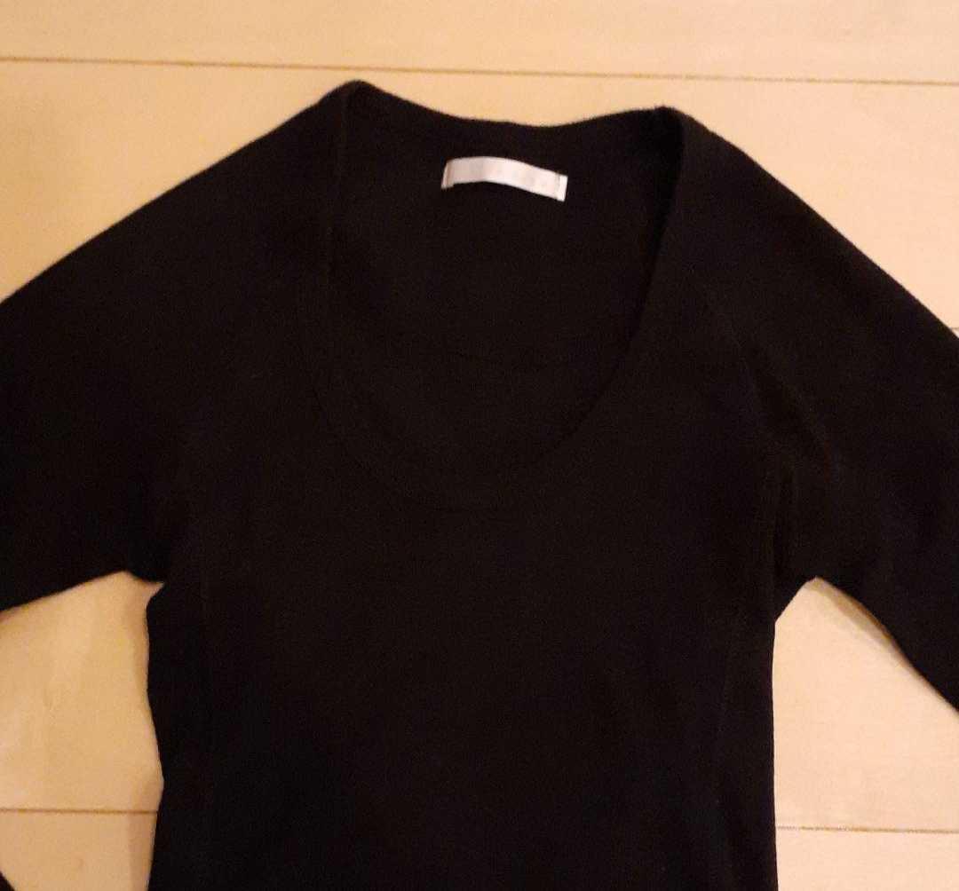 長袖カットソー黒ブラック