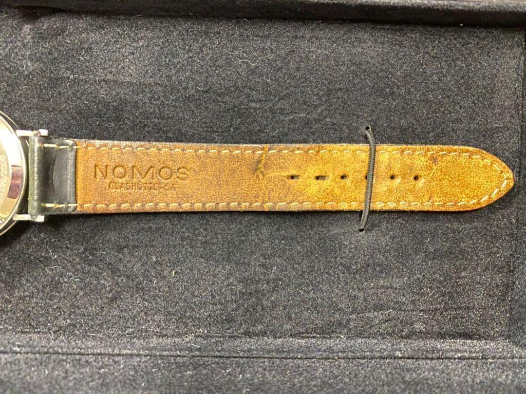 nomos ノモス タンジェント グラスヒュッテ TAN1711W2G 2000本限定 手巻 箱、保証書付 USED 中古 シースルーバック バウハウス ドイツ_画像3