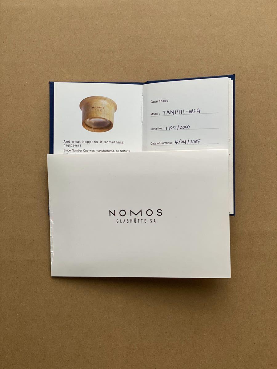 nomos ノモス タンジェント グラスヒュッテ TAN1711W2G 2000本限定 手巻 箱、保証書付 USED 中古 シースルーバック バウハウス ドイツ_画像9