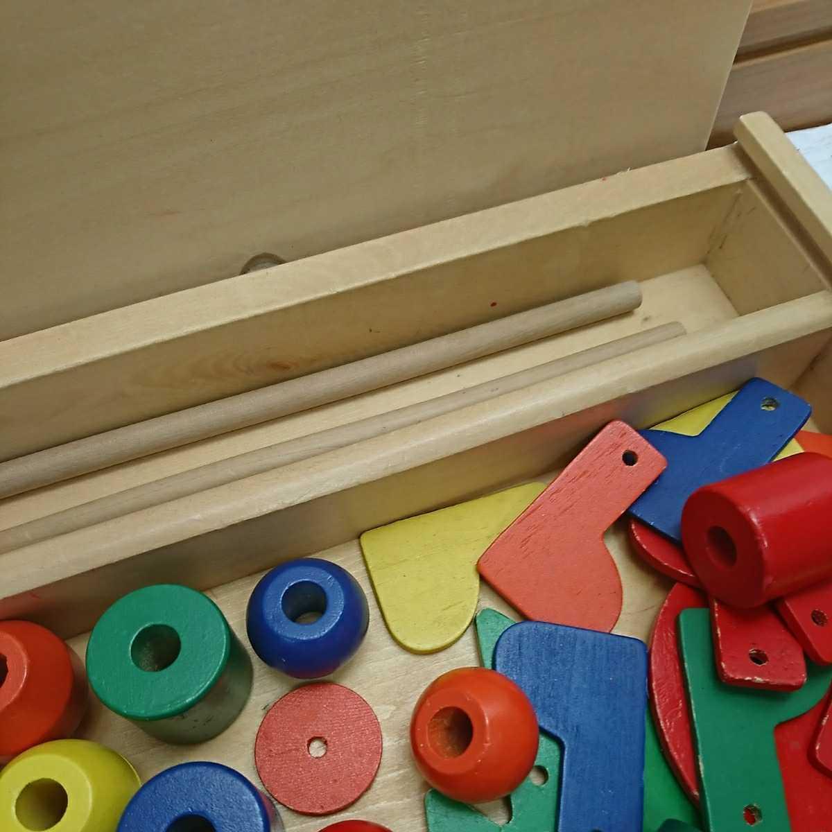 知育玩具 木のおもちゃ 積み木 木製 つみき _画像3