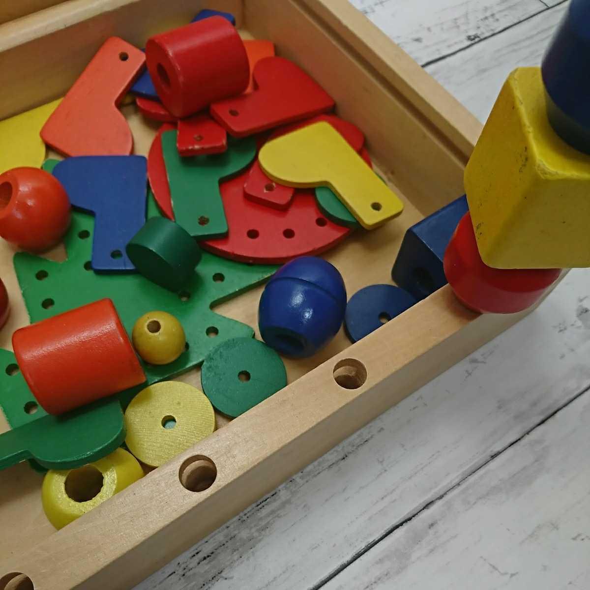 知育玩具 木のおもちゃ 積み木 木製 つみき _画像2