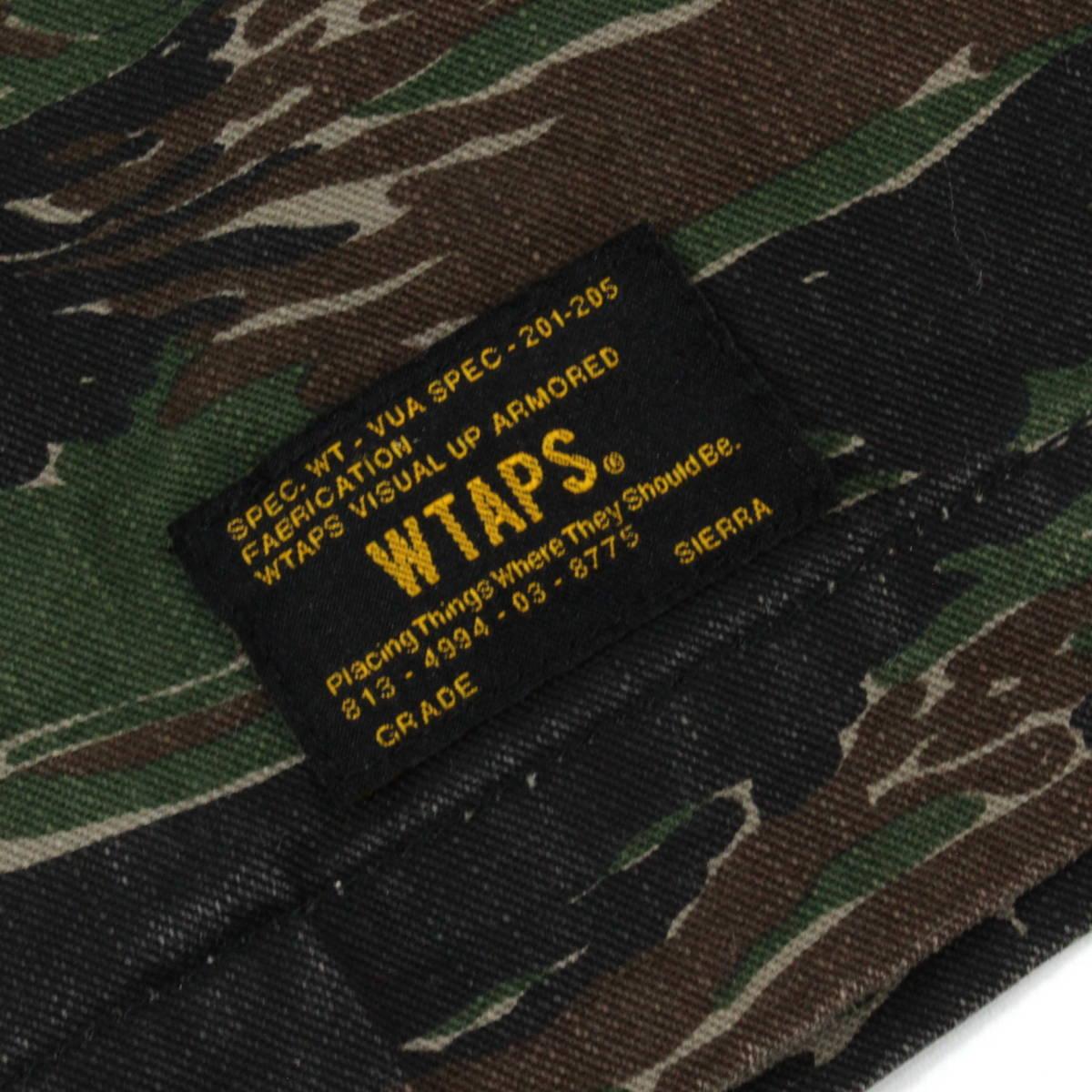 【即完売】WTAPS 17SS BUDS SS JUNGLE SHIRT TIGER STRIPE オーバーサイズ ミリタリーシャツ 1 S タイガーカモ 迷彩 ダブルタップス_画像7