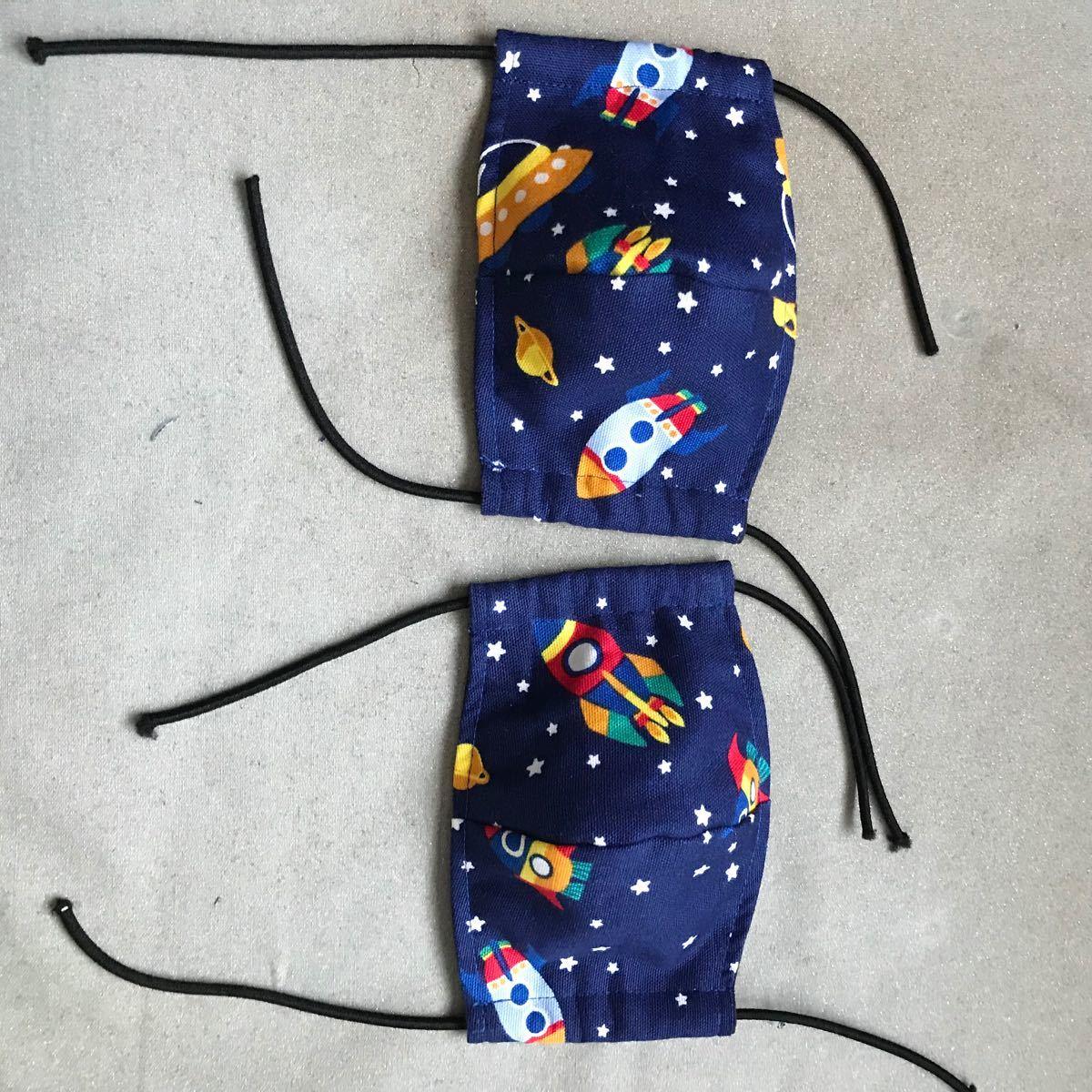 ハンドメイドインナーマスク子供用二枚組