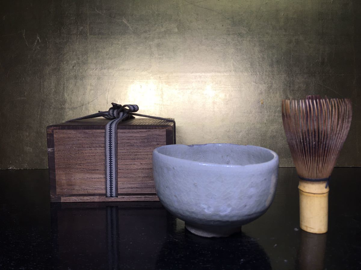 桃山から江戸初期 古瀬戸茶碗 灰釉 時代茶道具 z46_画像1