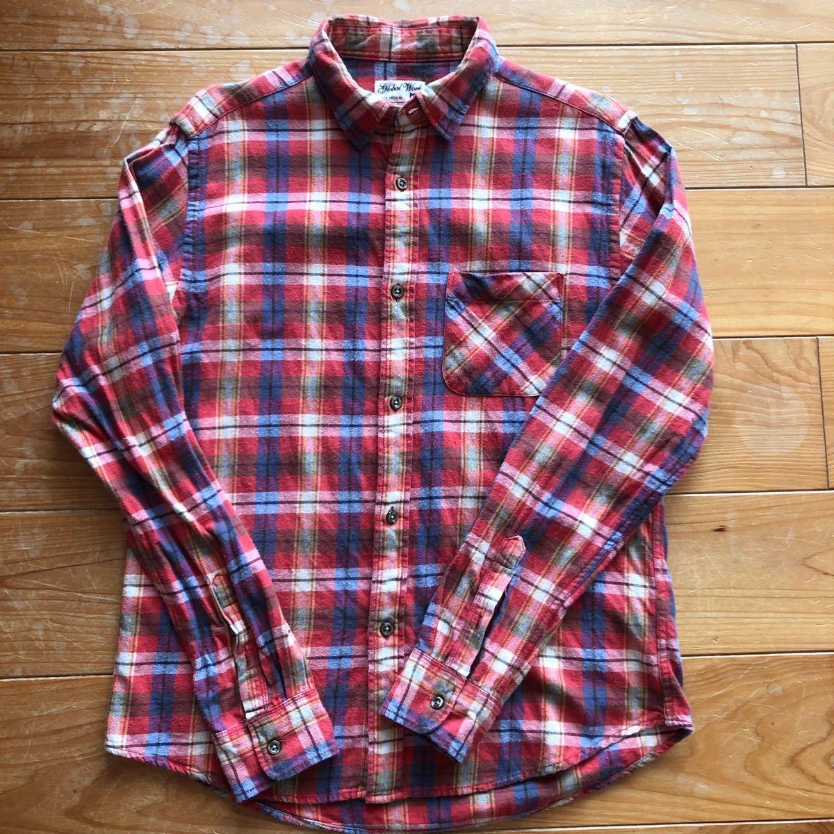 メンズ ネルシャツ  チェックシャツ