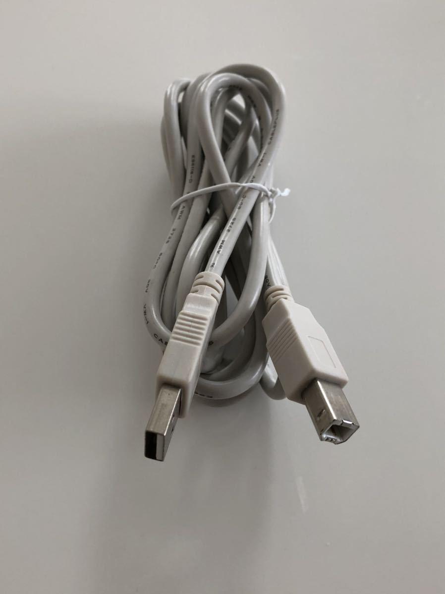 【即決・送料無料、未使用】USB3.0ケーブル (Type A - Type B) 2m ライトグレー モニター接続用, CABLEPLUS E96118 AWM 2725 80C 30V VW-1