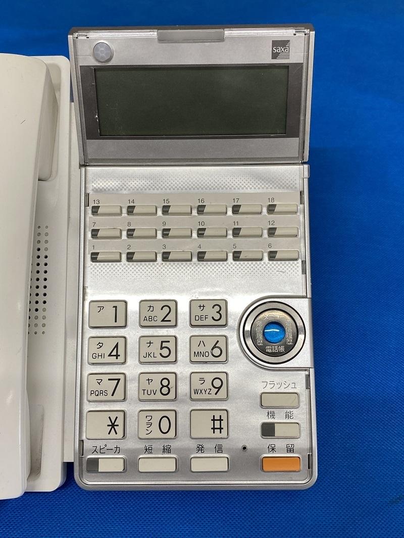 SAXA ビジネスホン TD615(W) 18ボタン標準電話機 中古_画像2