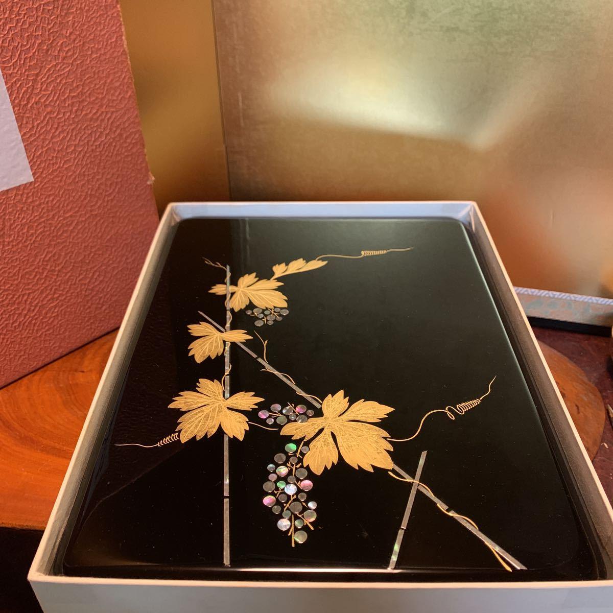2005122 硯箱 すずり箱 平文箱 青貝 漆器 螺鈿