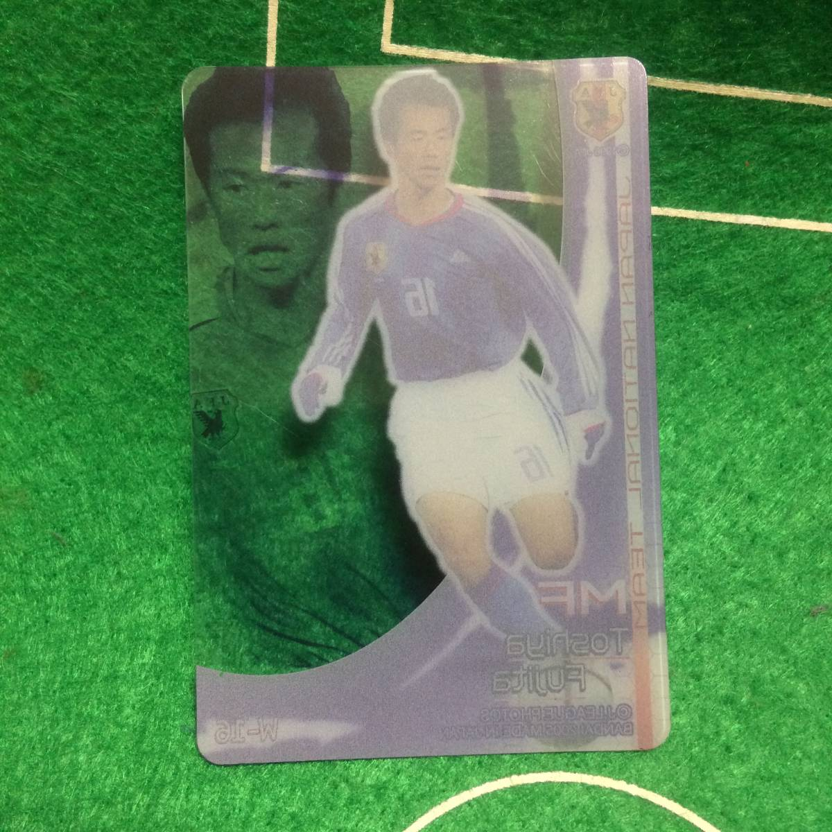 933)サッカー 日本代表 スケルトン カード MF16 藤田俊哉 2006 バンダイ_画像2