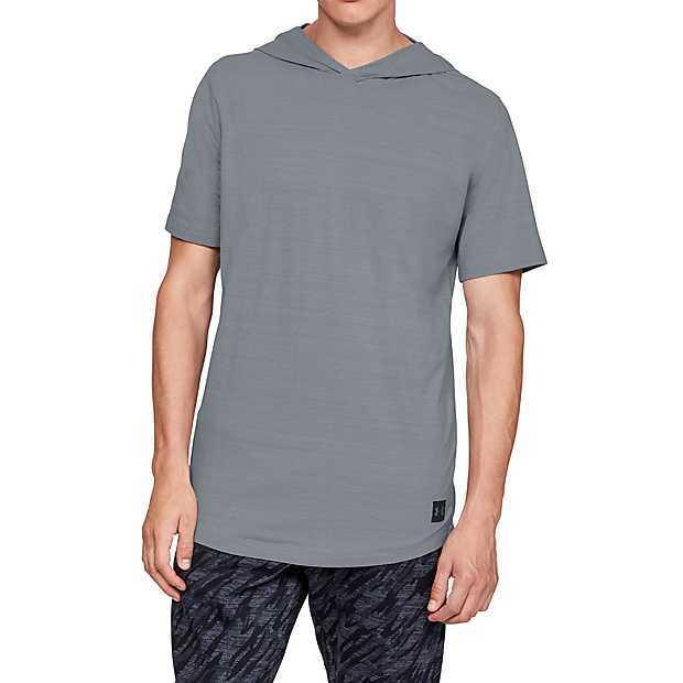 新品UNDER ARMOUR(アンダーアーマー)スポーツスタイル ショートスリーブフーディー シャツ パンツ 上下セット サイズSM_画像2