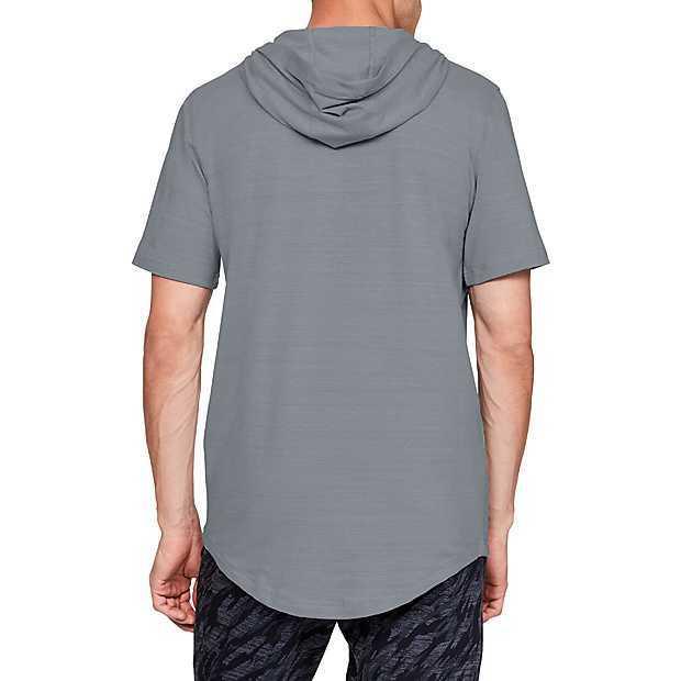新品UNDER ARMOUR(アンダーアーマー)スポーツスタイル ショートスリーブフーディー シャツ パンツ 上下セット サイズSM_画像3