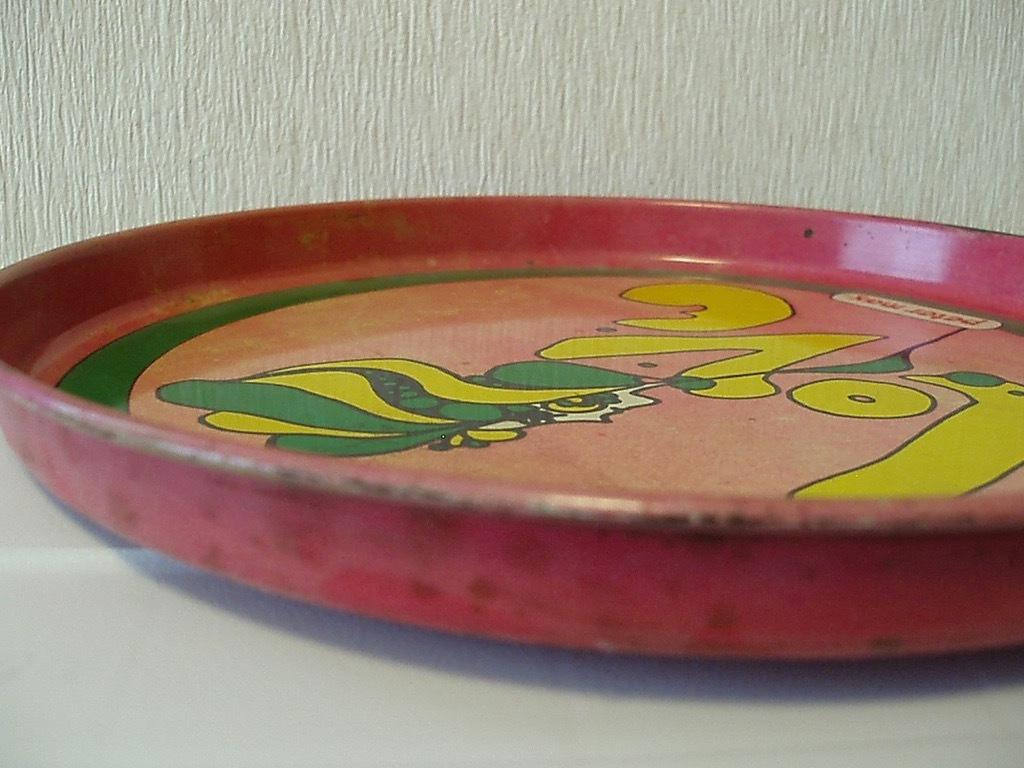●peter max TORAY トレイ(ピンク) ビンテージ ピーターマックス トレー 金属 雑貨 60'S 70'S ヒッピー アンティーク USA製 アメリカ製_画像3