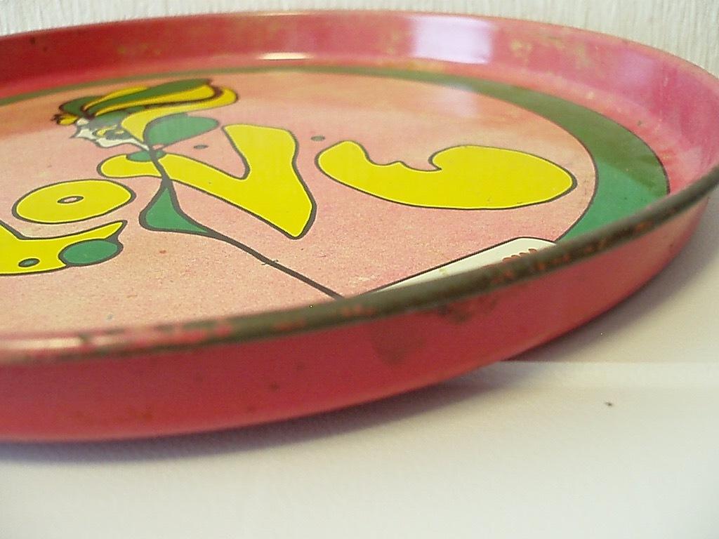 ●peter max TORAY トレイ(ピンク) ビンテージ ピーターマックス トレー 金属 雑貨 60'S 70'S ヒッピー アンティーク USA製 アメリカ製_画像5