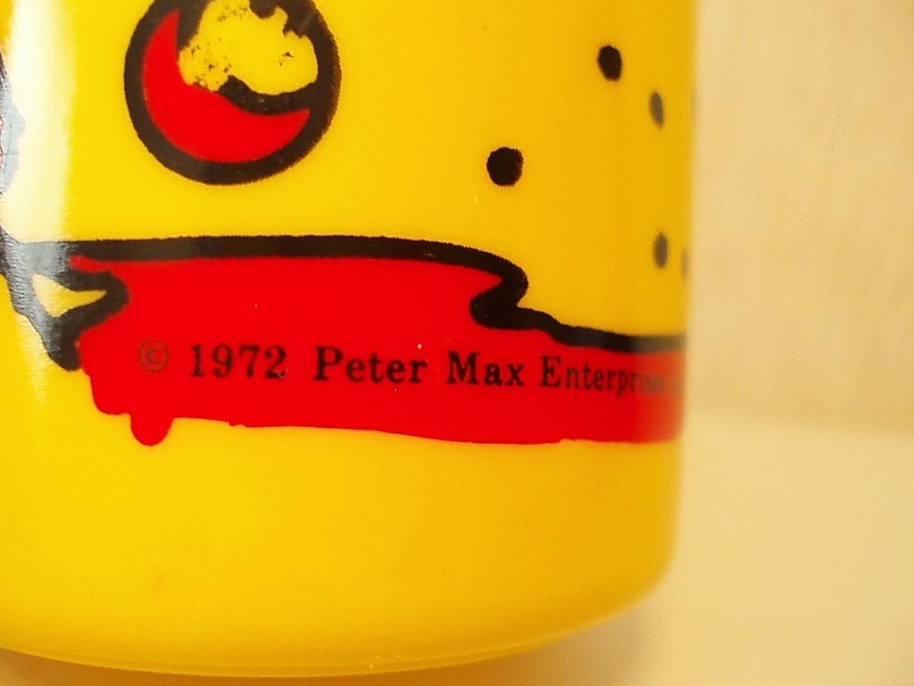 ●peter max ピーターマックス タンブラー USA製 アメリカ製 コップ カップ 蓋なしケース 70's ビンテージ アンティーク USA 雑貨_画像5