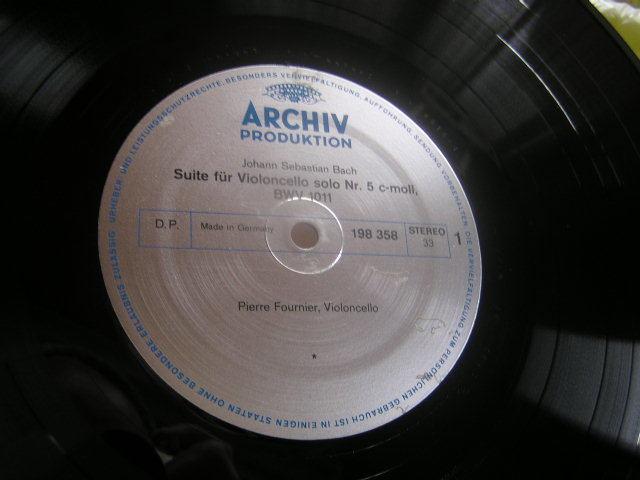 3枚組独盤 フルニエ バッハ無伴奏チェロ全曲BOX_画像3