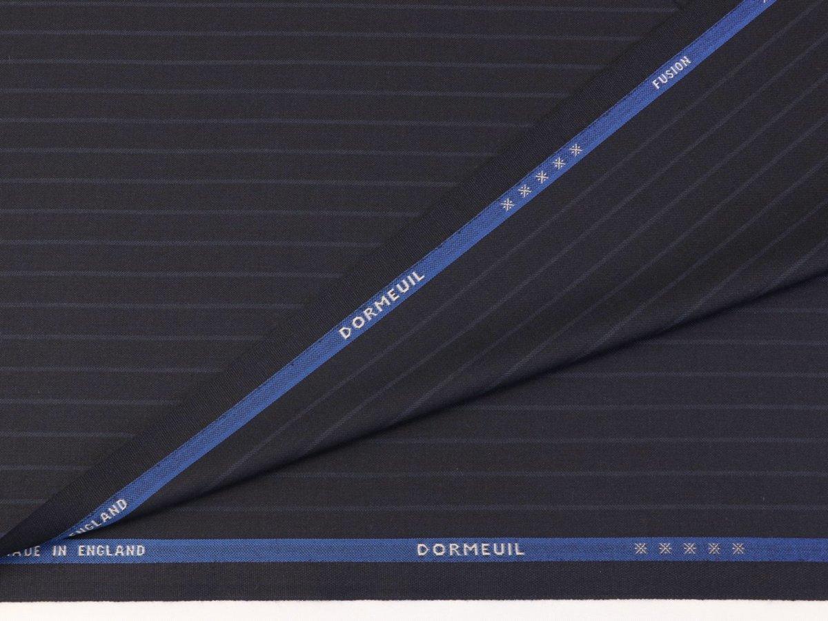 ★世界最高級シリーズ「ドーメル・フュージョン」カシミア、s200、シルク、バイソン・濃紺ストライプ・服地価格110万円_画像6