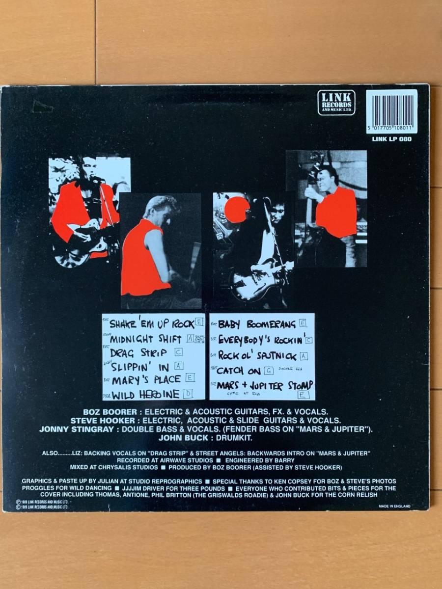 【値下】BOZ & THE BOZMEN ネオロカ LP 1989年 BOZ BOORER STEVE HOOKER ロカビリー、サイコビリー LINK_画像2