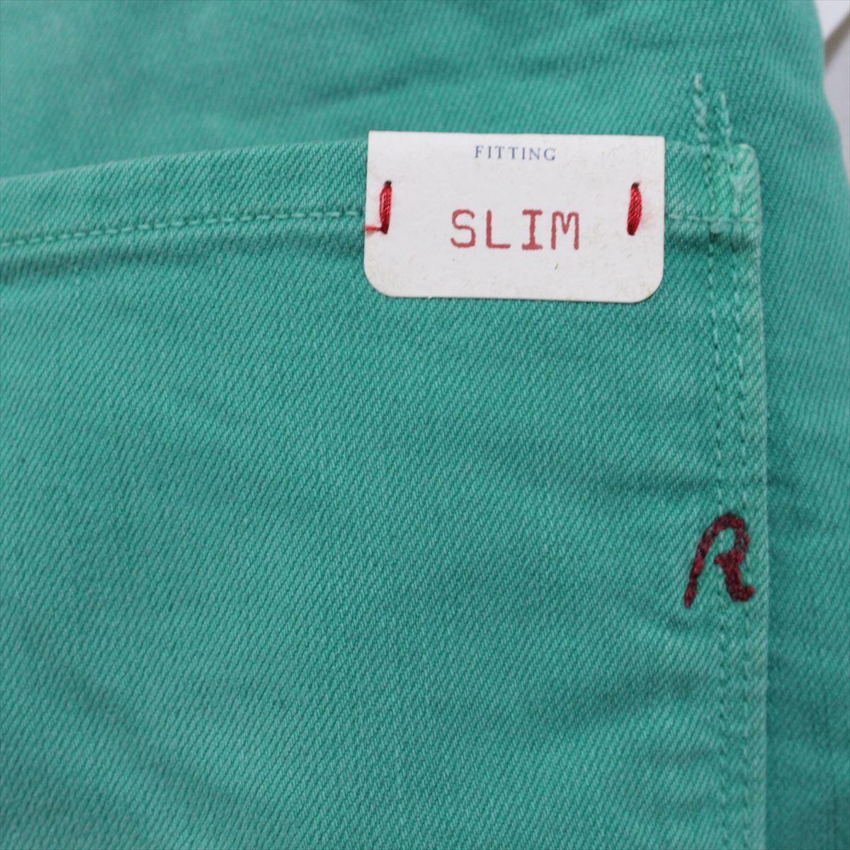 リプレイ REPLAY メンズカラーパンツ ジーンズ デニムパンツ SLIM グリーン 34インチ 新品 REPLAY BLUE JEANS anbass slim jeans_画像5