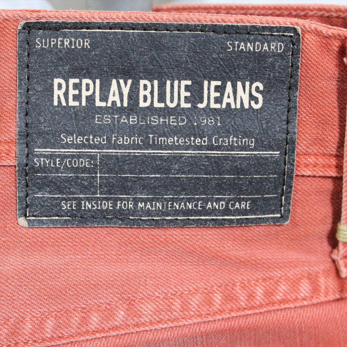 リプレイ REPLAY メンズカラーパンツ ジーンズ デニムパンツ SLIM レンガ色 33インチ 新品 REPLAY BLUE JEANS anbass slim jeans_画像5