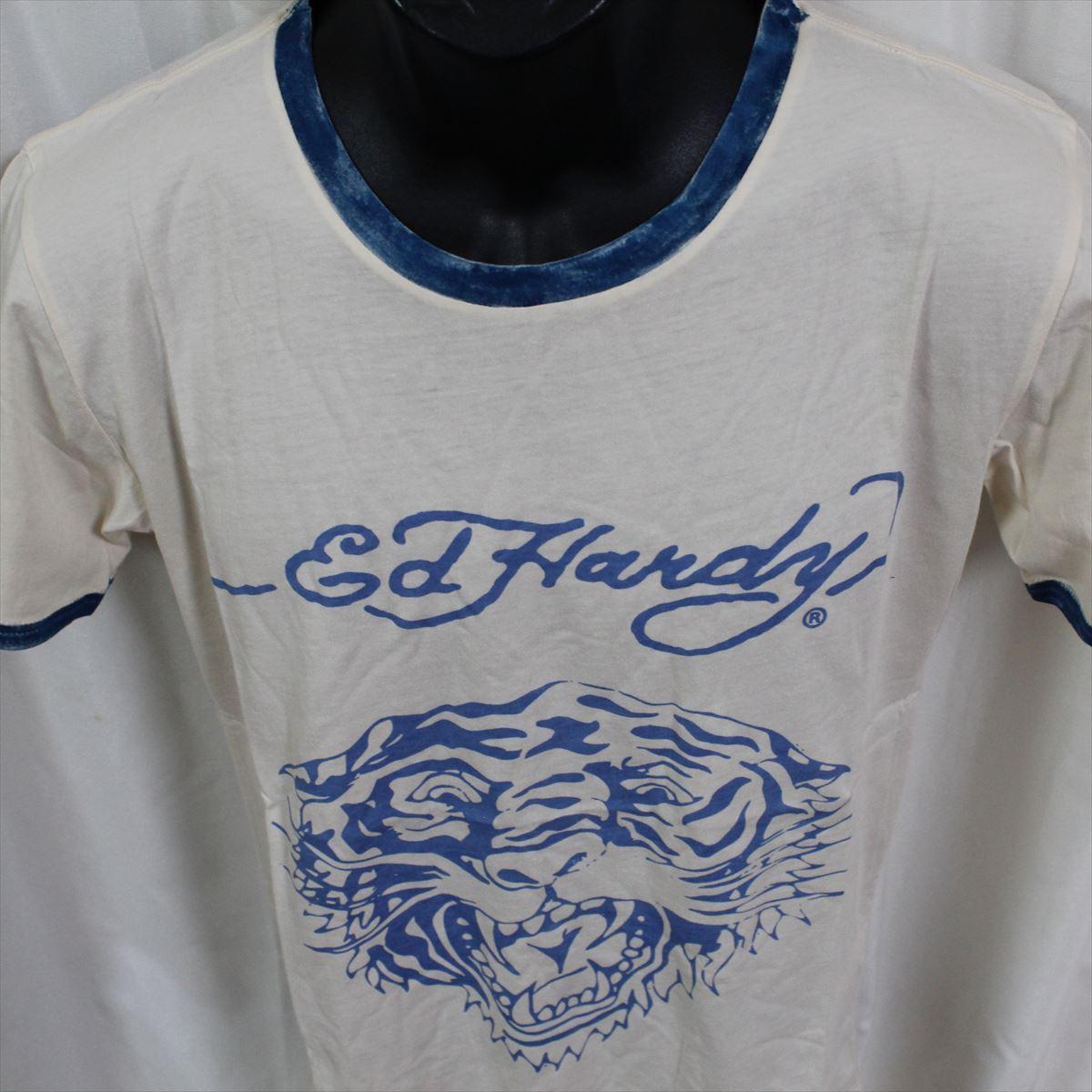 エドハーディー ED HARDY メンズ半袖Tシャツ Sサイズ PR091 TIGER 新品 ブルー_画像2