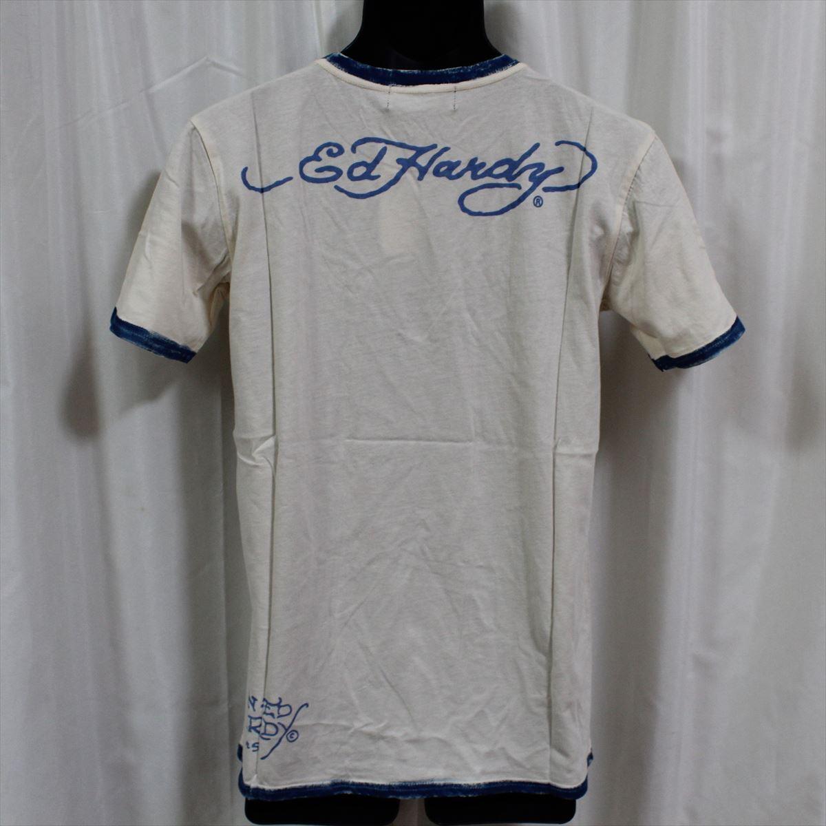 エドハーディー ED HARDY メンズ半袖Tシャツ Sサイズ PR091 TIGER 新品 ブルー_画像3