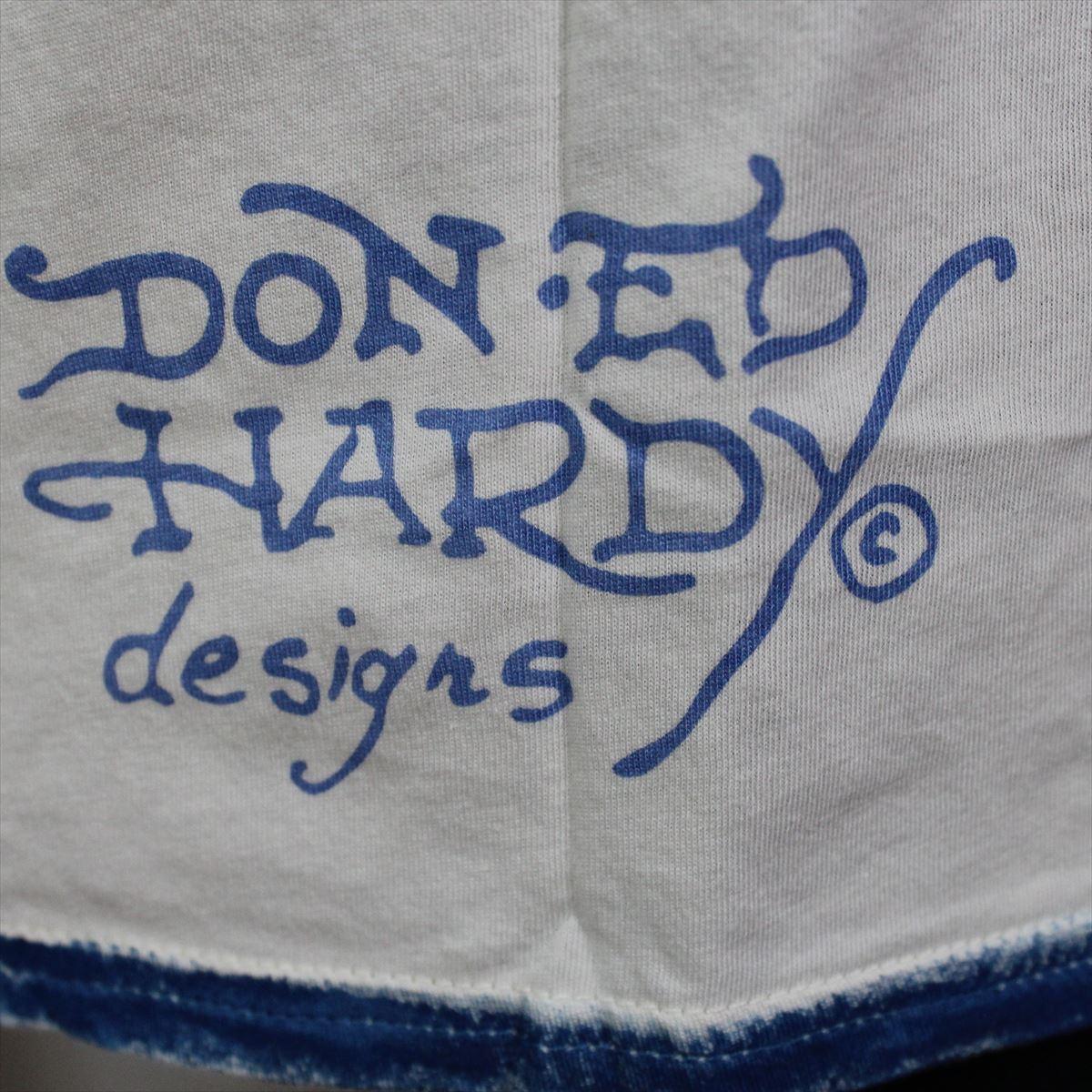 エドハーディー ED HARDY メンズ半袖Tシャツ Sサイズ PR091 TIGER 新品 ブルー_画像4