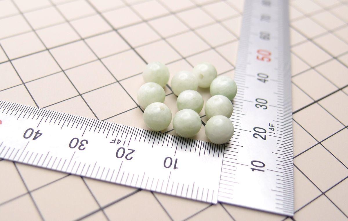 天然石ビーズ◆グリーンフェルドスパー 6mm 10個 3.3g (no.33) _画像2