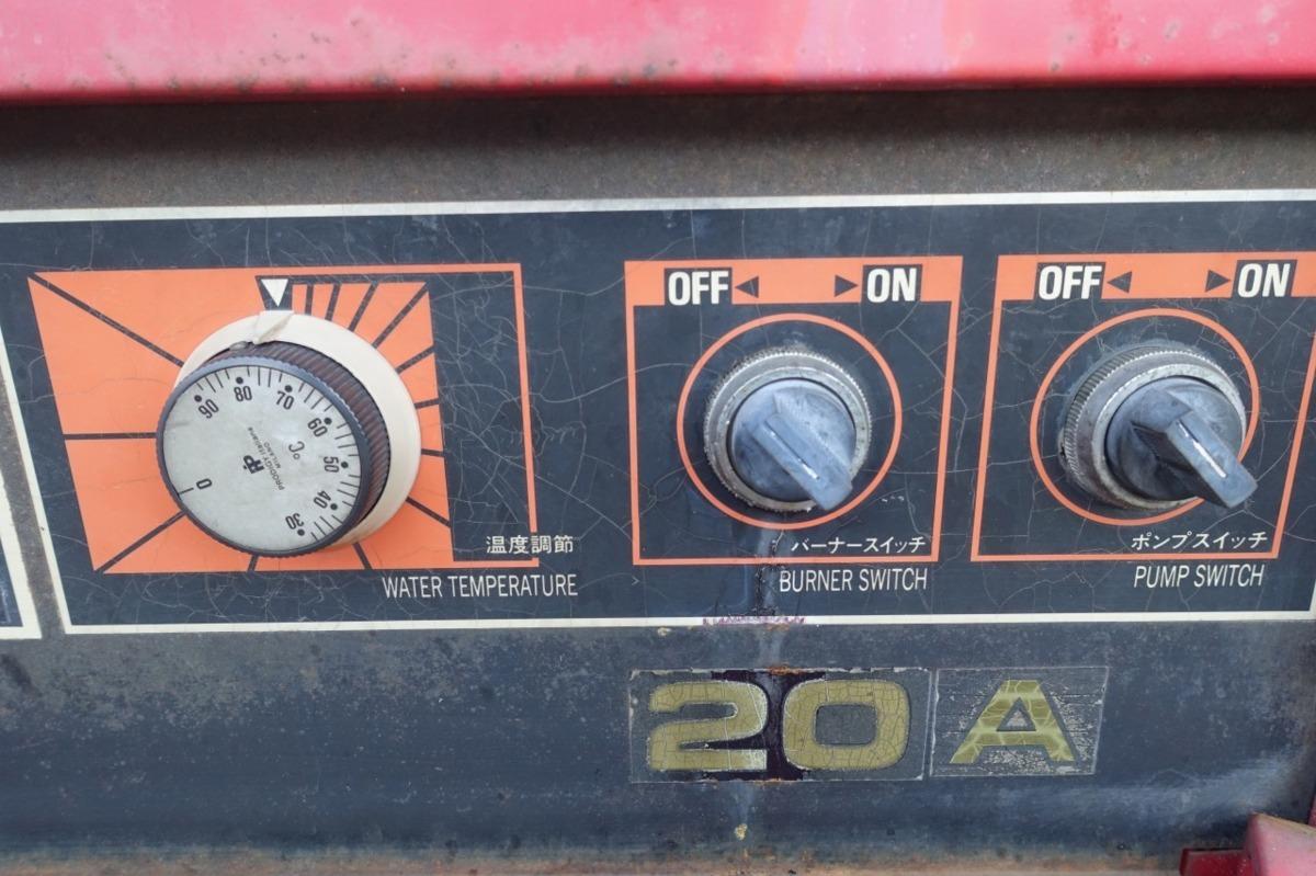 岡常歯車 温水高圧洗浄機 TP-20 3P200V+灯油 ボイラー 温水洗浄機 業務用 洗車 ガン、ホース付属 オカツネ_画像2