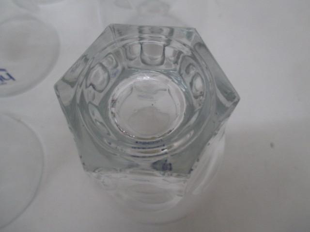 100☆iY★値下げ!!★ FUJIYA hi cupのロゴあり・ガラス製コップ6客セット★ 未使用品・店頭展示品★K_画像8