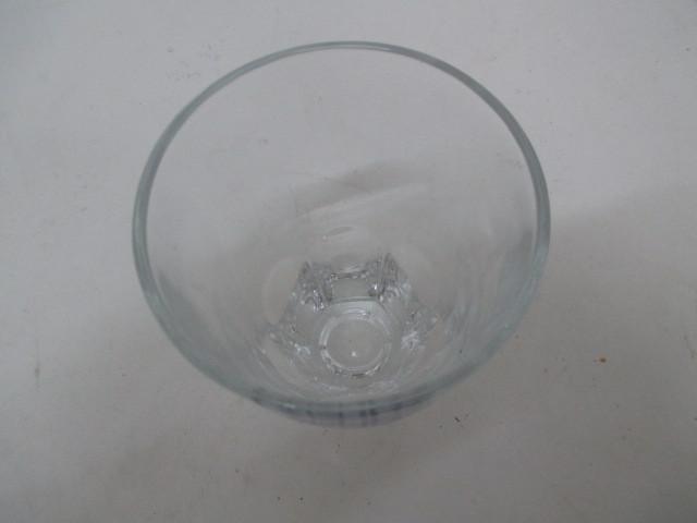 100☆iY★値下げ!!★ FUJIYA hi cupのロゴあり・ガラス製コップ6客セット★ 未使用品・店頭展示品★K_画像6