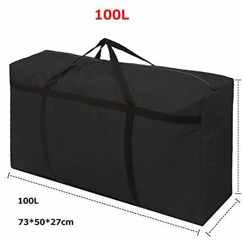 Fisstina布団収納袋ケース大容量100L 超大型バッグ整理 片づけ 引っ越しバッグ 特大サイズ 防湿 可愛い柄 収納ケース_画像2