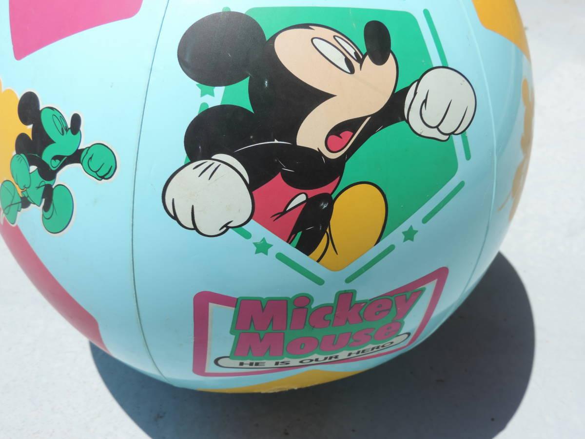 ☆Disney ディズニー MICKEY MOUSE ミッキーマウスビーチ ボール プール用品 水遊び 浮き輪☆【訳あり】☆3040_画像2