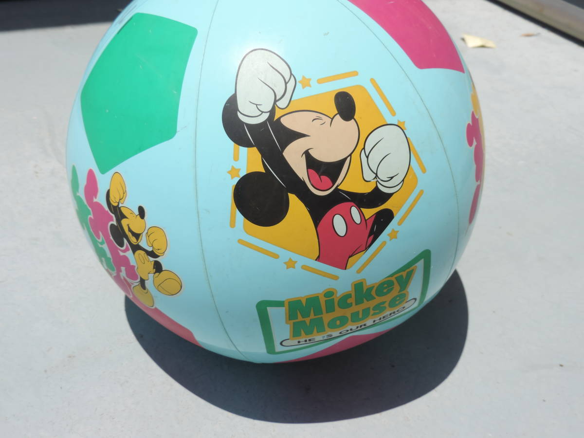 ☆Disney ディズニー MICKEY MOUSE ミッキーマウスビーチ ボール プール用品 水遊び 浮き輪☆【訳あり】☆3040_画像3