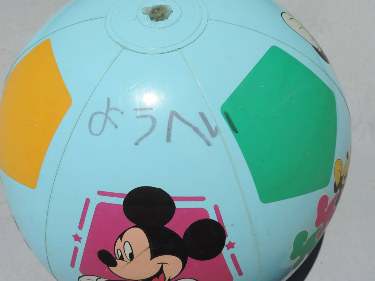 ☆Disney ディズニー MICKEY MOUSE ミッキーマウスビーチ ボール プール用品 水遊び 浮き輪☆【訳あり】☆3040_画像5