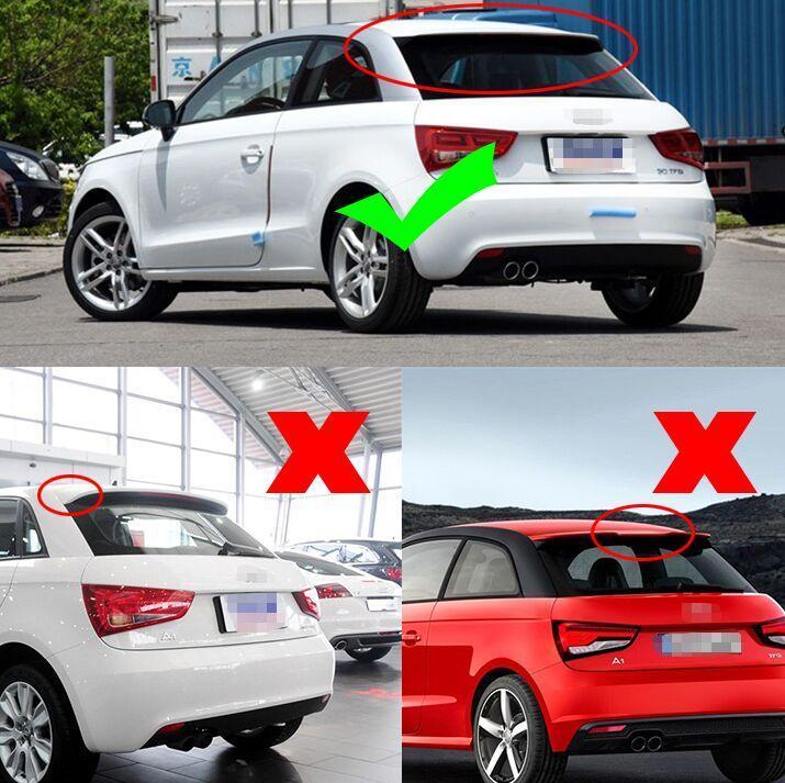 ●アウディA1 2D用R18スタイル カーボンルーフスポイラー/綾織/8X/AUDI/DTM/RS1/最安値挑戦/リアスポイラー/リアウイング/エアロ_画像10