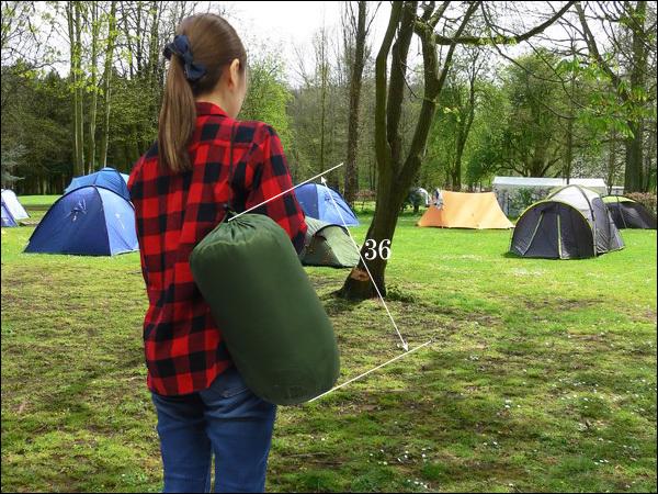 寝袋 緑H 封筒型 シュラフ 175×75cm 収納袋付き/23_画像9