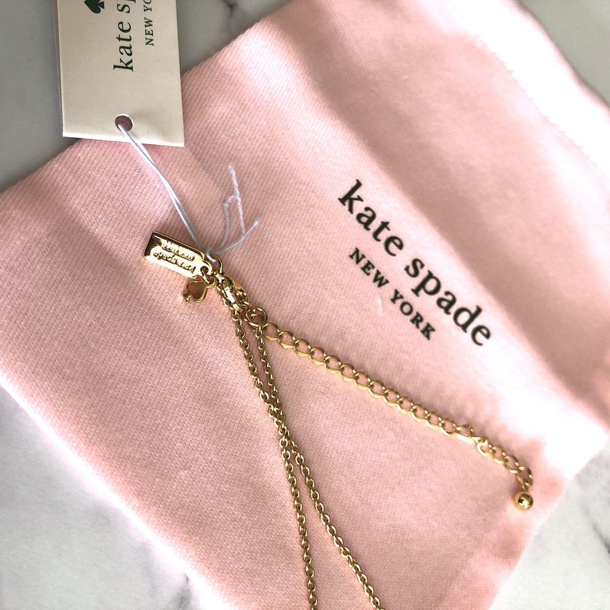 ケイトスペード ゴールド ネックレス 小鳥 バード ロゴ スワロフスキー ブランド ゴージャス プレゼント アクセサリー ジュエリー 新品