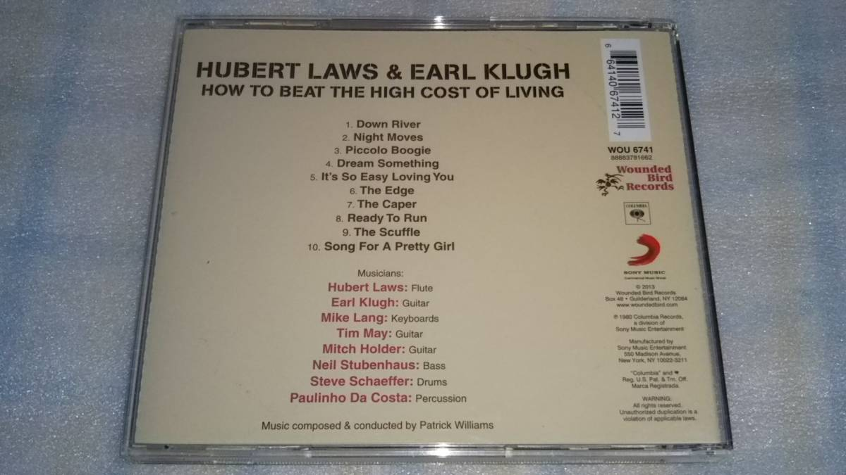 HUBERT LAWS & EARL KLUGH/HOW TO BEAT THE HIGH COST OF LIVING 輸入盤CD 80s US JAZZ FUNK FUSION WOUNDED BIRD_画像3