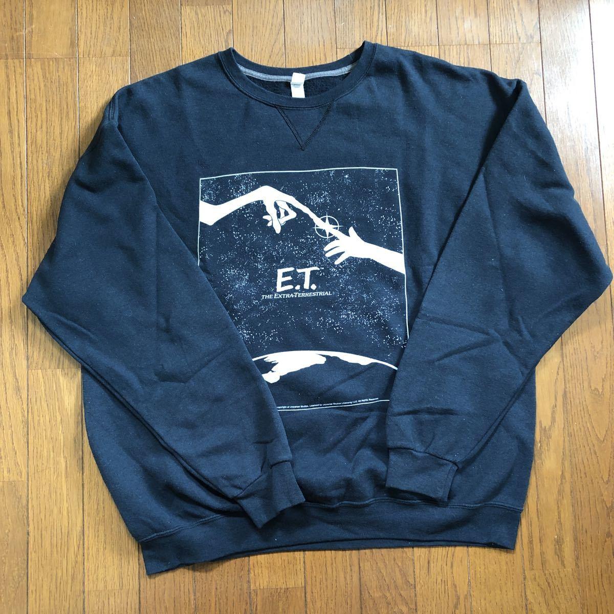 E.T. スウェットトレーナー XL ( FRUIT OF THE LOOM ) Vintage 映画 入手難 希少 薄手スウェット 春秋_画像1