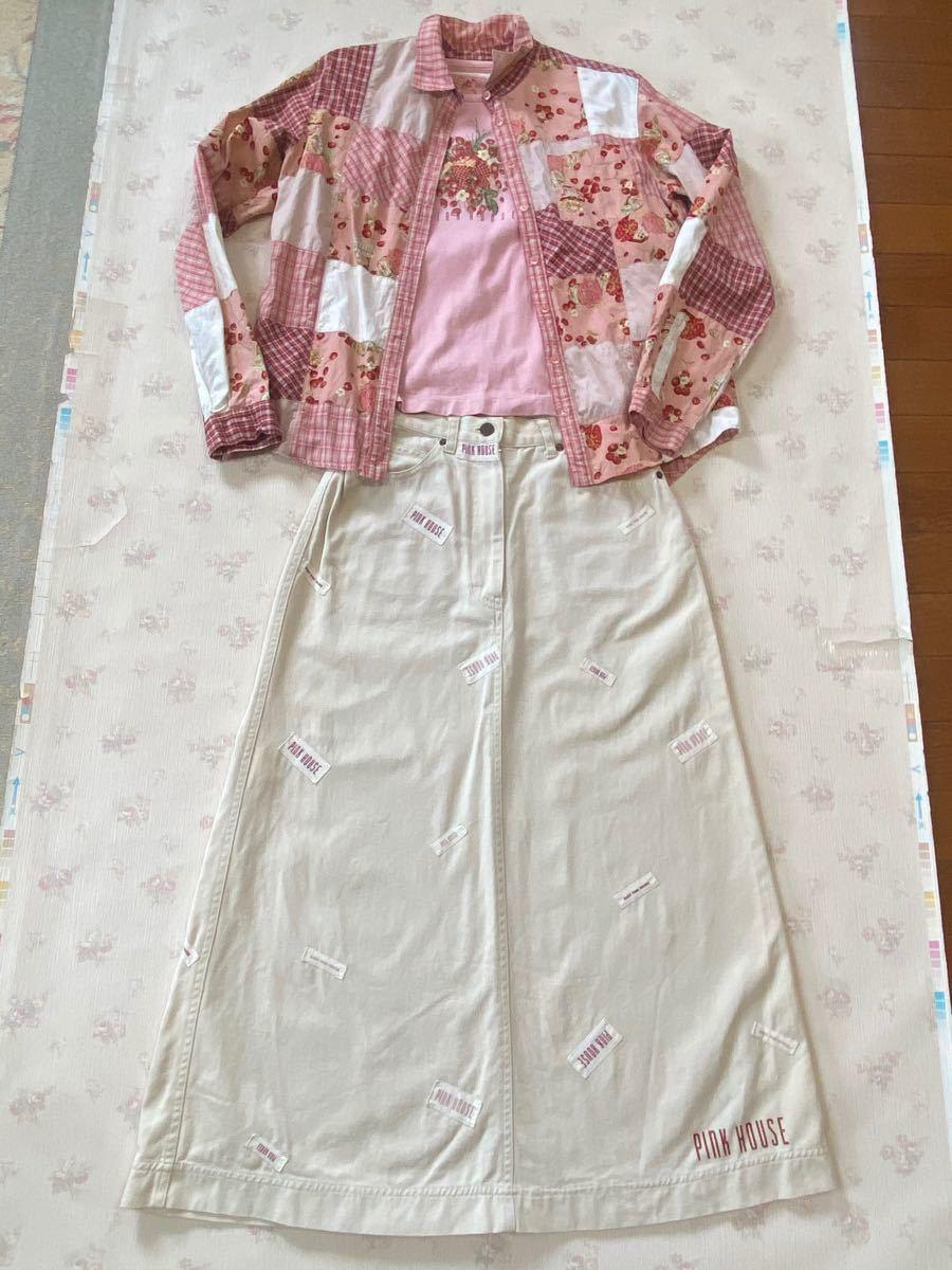 ピンクハウス 苺シリーズ・ピンクの長袖Tシャツのみ