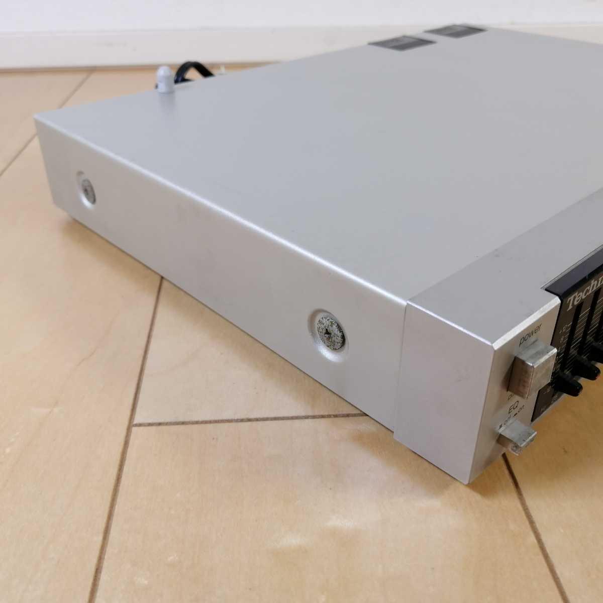 美品!! Technics テクニクス ステレオグラフィックイコライザー SH-E6 通電確認済!!_画像6