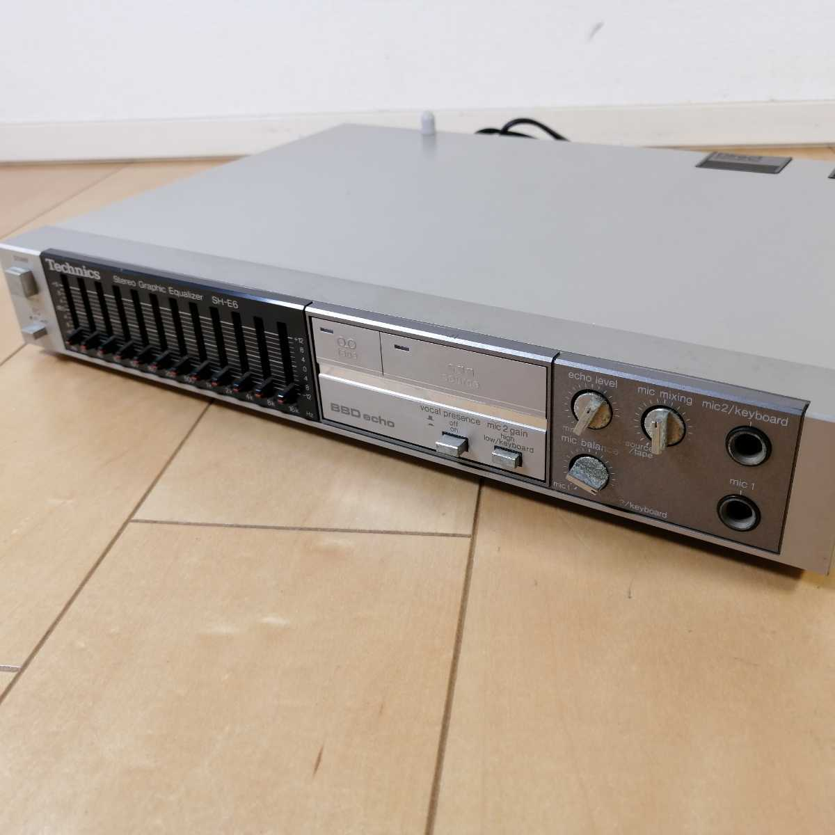 美品!! Technics テクニクス ステレオグラフィックイコライザー SH-E6 通電確認済!!_画像2