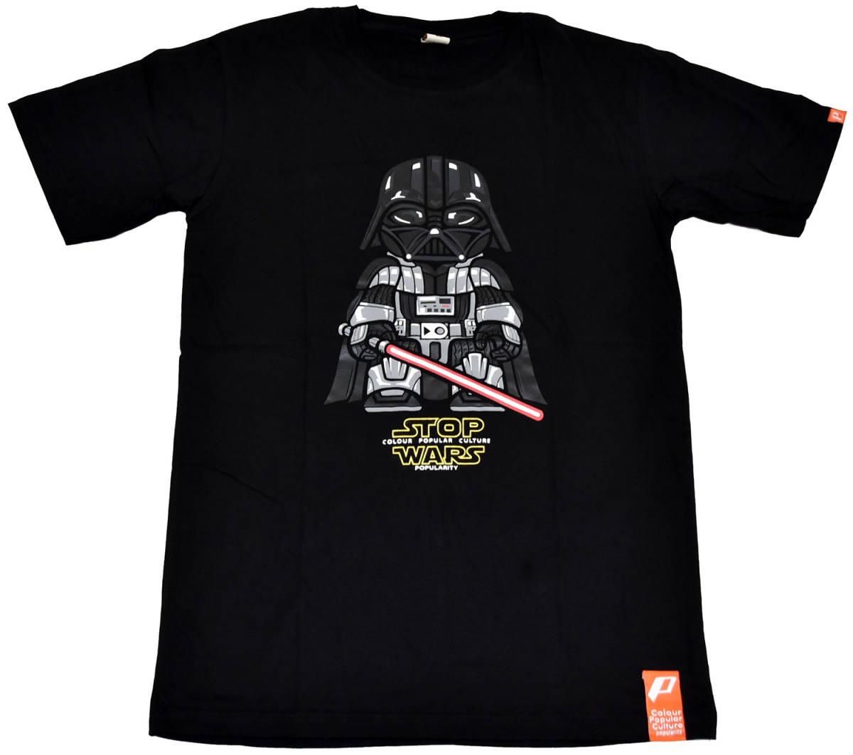 ダース・ベイダーTシャツ STOP WARS XLサイズ 黒/ブラック 半袖