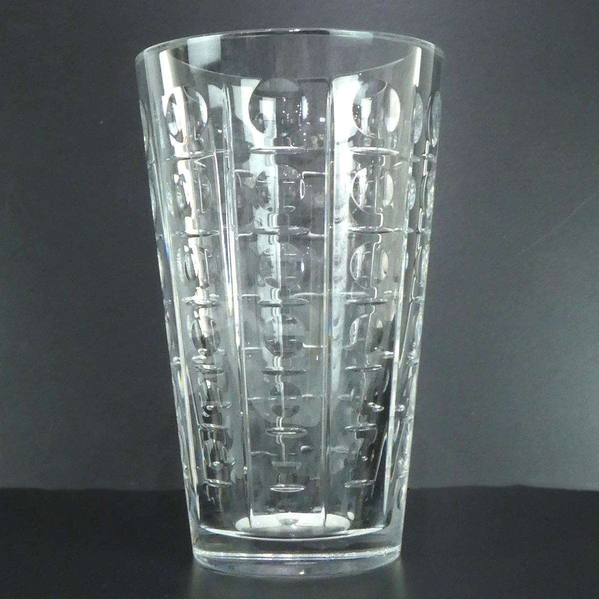 ★H1923 バカラ Baccarat クリスタルガラス フラワーベース 花瓶 箱付 H25xW16cm 同梱不可 レディース★